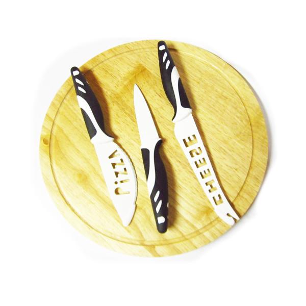 Tabla de madera con cuchillos promocb regalos publicitarios - Tabla de cuchillos ...